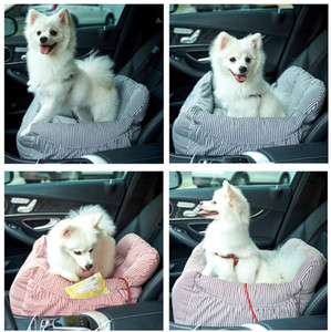 Dog Car Seat Puppy Booster Seat Pet Travel Car Carrier Bed with Storage Pocket Clip-on Safety Leash Non-Slip Base for Small to Medium Dogs