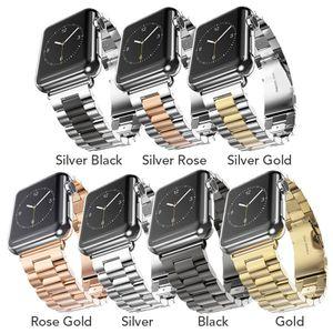 Paslanmaz Çelik Watch Band Apple İzle Serie 4 Için 40mm Metal Spor Sapanlar Apple Ürünü Için 44mm 38mm Bilezik T190620