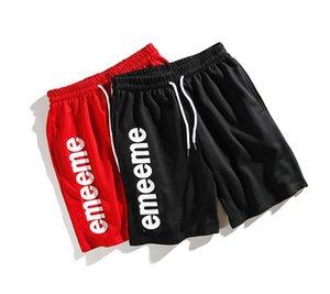 Erkek Marka Yaz Casual Plaj Erkekler Moda Letter için Tasarımcı Kısa Pantolon Şort Sokak Stili Etikel Kısa Pantolon yazdır