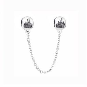 Novos contas de prata esterlinas de 925 ajustam a pulseira europeia Wonderful World Park Castlel Starry Sky Cadeia de segurança Beads para as mulheres DIY Jóias