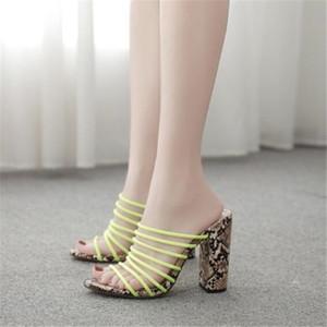 MAIERNISI Novo padrão de qualidade superior Explosivo dinheiro Nightclub calçados femininos 11CM grosso calcanhar Sexy Fashion Show 35-41 42
