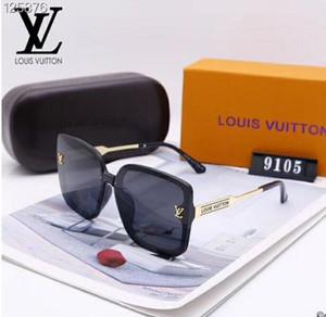 2020 роскошные модные дизайнеры большие металлические солнцезащитные очки для мужчин женщин стеклянные линзы УФ защита солнцезащитные очки 10