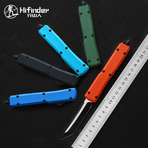 Hifinder hoja del cuchillo: D2 (Negro) manija: aluminio (CNC cinco colores) la supervivencia acampar al aire libre herramienta de cuchillo de cocina de la cena EDC caza táctico