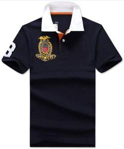 Los nuevos hombres Casual Polo Big Pony bordado sólido Polos Homme algodón del verano Golf Tenis Tees Camisetas Menswear Jersey ropa blanca