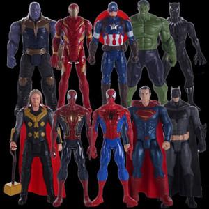 Marvel Супергерои 30СМ Каваи милые куклы которые качаются и блестят милые фигурки помещаются на стол или шкаф в качестве детского подарка