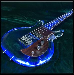 목에 T-ED5 LED 조명은 전기베이스 기타를 4string, 하나 개의 험버커 볼트 armstrongbass 기타를 4string