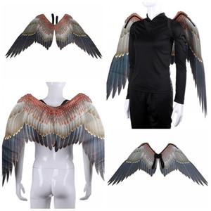 Halloween Carnaval Ailes animaux Costume Tissus non tissés Tube Eagle Wing hommes et les femmes Novelty Party Supplies 36sz E1