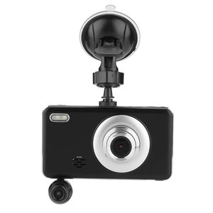 "4 "" IPS screen car DVR 3Ch dash camera driving digital recorder 1080P FHD front + rear + 360° rotatable lens 170 ° 140 ° 120 ° FOV"
