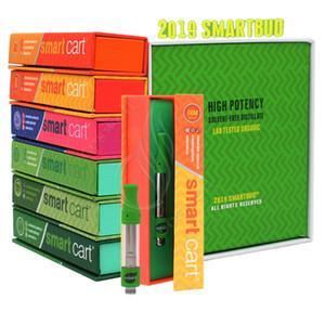 2019 SmartBUD 스마트 카트 프리미엄 Vape Cartirdges 하이 포 텐시 무용제 증류 SmartCart 버드 카트 기화기 펜 0.8 1.0 ㎖ 최신 박스