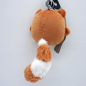 Kawaii Chi-tailed bear plush toy big tail Keychain car hanging pendant Kids Birthday Easter Gift Toy