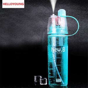 Bottiglia di acqua di Sport Bottiglia dello spruzzo ciclismo Outdoor idratante shaker trasparente di viaggio di plastica di acqua di Campeggio Drinkware preferito