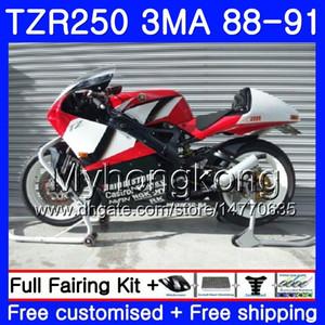 Kit Glossy Nero caldo per Yamaha TZR250RR TZR-250 TZR 250 88 89 90 91 Body 244hm.aa TZR250 RS RR YPVS 3mA TZR250 1988 1989 1990 1991 Fairing