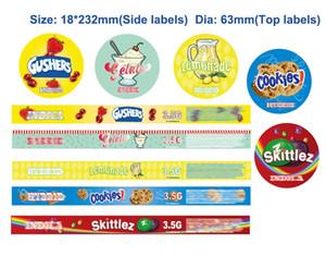 3.5g 100ml Personalizar Smartbud Etiquetas Atum Tin Can parte superior e lateral etiquetas inteligentes Bud Puxe Labels anel da lata de lata