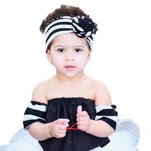 8 cores infantil bonito do bebê listrada Knot headband Meninas headwraps Turban Bandanas Bandanas Hairband Phtography Props o favor de partido RRA3089