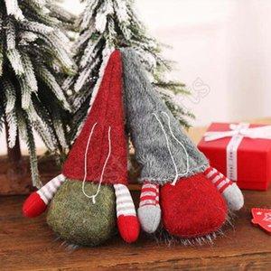 Scandinave Gnome suédoise main de Noël Tomte Père Noël Nisse nordique en peluche Tableau Ornement Arbre de Noël Décorations ZZA1440