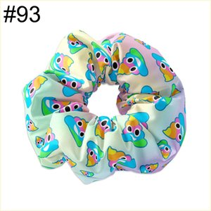 free shipping 30pcs NO58-No114 5.5'' big inspired hair scrunchies girl elastic hairbands Women Printed Scrunchie butterfly unicorn