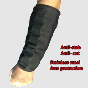 1 Par Anti-corte Manga de seguridad Protección de brazos de acero inoxidable Brazalete de defensa Brazalete anti-puñalada Brazo superior Luz Armadura de metal envío gratis
