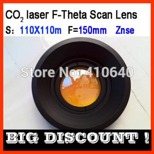 F-Theta 110X110 campo len de Znze para máquina de laser de CO2 comprimento de onda 10.6micron comprimento do foco F160 parafuso 85X1 MAIS TAMANHO DISPONÍVEL
