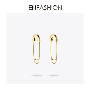 Fashion Safety Pin Long Earrings Rose Gold color Earings Stainless Steel Dangle Earrings For Women Jewelry Orecchini Brinco SH190930