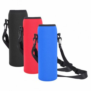 1L Water Bottle Bag Outdoor Camping Hiking Kettle Pouch Bag Portable Travel Water Bottle Holder for Backpack Neoprene Thermal