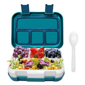 Leak-Proof Insulated Lunch Boxes with Spoon, BPA Free Materials Eco-Friendly Reusable, Food Storage Container Travel-Packing for