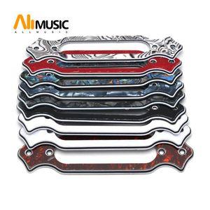 10pcs Single Coil Captura Transformado em guitarra acústica Som Buraco Pickups Suporte Suporte Tampa Single Coil recolhimento placas Anel