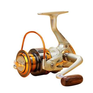 Rolos baratos 2019 Gapless molinete 12BB EF1000-7000 5.5: 1 Metal Carp Spinning Wheel Reel Para Pesca New navio