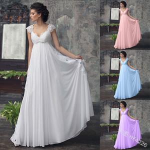 2020 Europe and the United States foreign trade new dress long skirt popular sleeveless Vneck Chiffon Wedding Dress hf4226
