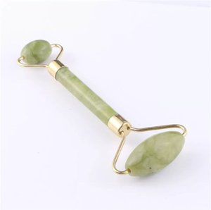 facial massage roller double heads jade stone face lift hands boy skin relaxation slimming