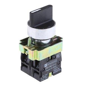 Zb2-be101c의 22mm 잠금 로터리 셀렉터 3 개 포지션 버튼을 눌러