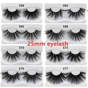 100% 25 mm cils 3D Vison Cils Faux cils Croisillon naturel cils Faux cils Maquillage 3D Mink Extension cils style 15
