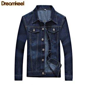 Artı Ceketler Erkek R Boyutu Erkekler Için Moto Jean Ceket Denim Ceket Palto Denim Erkek Biker Moda Streetwear Erkek Giyim Cotton AEDKU