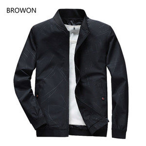 BROWON 2019 Hot Sale Mens Jackets Spring Autumn Casual Coats Bomber Jacket Slim Fashion Male Outwear Mens  Clothing 4XL