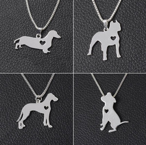 New arrival Explosive necklace love dog pendant chain closure chain jewelry