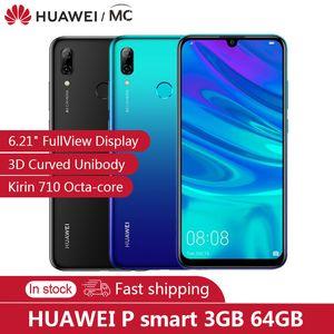 "En stock HUAWEI P intelligent 2019 3 Go de RAM 64GB ROM 6,21"" FHD téléphone portable 3400mAh Kirin710 Octa-core 9.0 EMUI NFC Mobile FCC LTE"