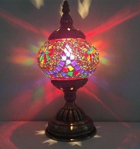 모든 수제 뉴 베드룸 램프 유럽 스타일 데스크 램프 지중해 모자이크 모자이크 백조 선물 테이블 램프