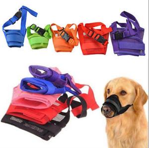 Ayarlanabilir Pet Köpek Bark Barking İçin Köpek Boyut S-XXL Isırma Mesh Ağız Namlu Bakım Karşıtı Bite Maske