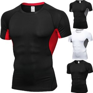Mens Short Sleeve Bodybuilding T-shirt Gym Fitness Sports Muscle Tops Blouse