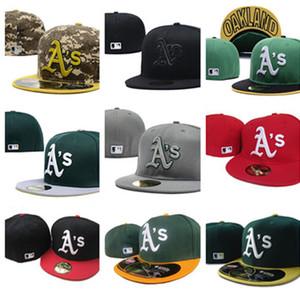 Caps nuovo modo Oakland Athletics squadra Equipaggiata Basketball Hat Snapback di baseball di gioco del calcio delle donne e cappello misura degli uomini