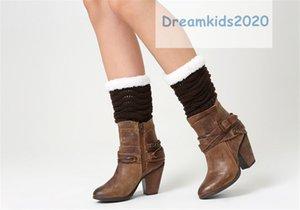 Gewellte Streifen gestrickte Socken, Damenstiefelsocken-Winter-warmer Crochetc Topper Socken Kurzbeinlinge Geschenke,