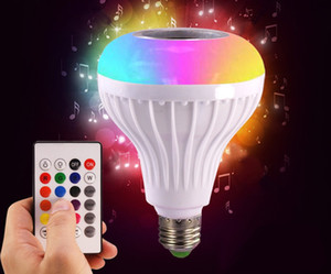 E27 Smart RGB Wireless Bluetooth Speaker Bulb Music Playing Dimmable LED Bulb Light Lamp with 24 Keys Remote Controller