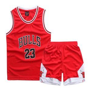 أحمر الأطفال ملابس كرة السلة دعوى مخصصة جديدة فاخر مصمم أطفال مجموعات الطفل بنين وبنات الطفل الرضيع صبي مصمم الملابس الاطفال المشارك