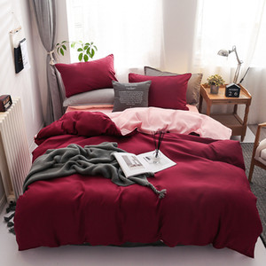 Designer Bett Bettdecken-Sets Vierteilige Bettwäsche Flanell Coral Fleece Bettwäsche Quilt Bettwäsche Tröster Bettwäsche-Sets