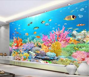 3d papier peint personnalisé photo murale Ultra HD Undersea Reef TV fond mur paysage 3d amélioration de l'habitat