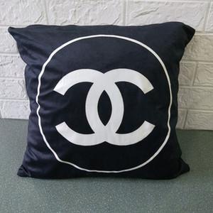 45 * 45 cm İskandinav tasarım siyah ve beyaz yastık kılıfı geometrik kafes İngilizce harfler basit kanepe yastık kılıfı (hayır yastık) çizgili