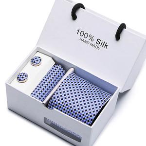 공식 표준 사이즈 넥타이는 신랑 신사 넥타이 남성 디자인 파티 폴리 에스테르 Gravata 슬림 화살표 8cm 실크 넥타이 정장 선물 포장 관계를 설정