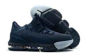 Mens James 16s Escudo Parafuso Homens tênis de basquete Low Titan x Lebron 16 Agimat Força azul Obsidian sapatos de atletismo com caixa