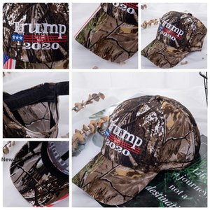 Trump camouflage baseball cap trump 2020 hat USA flag embroidered outdoor sunshade adjustable hat cotton snapback party favor FFA4100-4