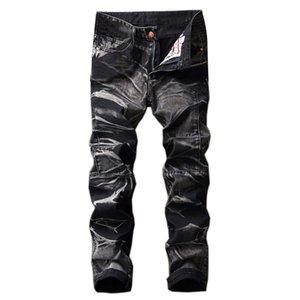 Shujin Männer Vintage-Jeans Male Gerade klassische Jeans-Hose Marke zerrissene dünne dünne Denim Stretch Herbst Hosen