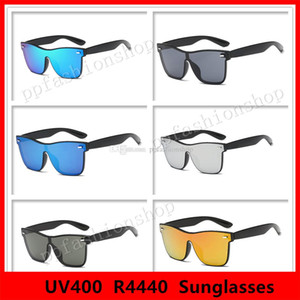 4440 Marca Óculos De Sol Para Homens Mulher Moda Clássico Quadrado Óculos De Sol Óculos De Sol Reflexivo Revestimento Óculos Óculos de lente Siamese
